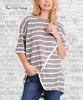 Gray Stripe Tee