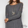 Lace Detail Tunic - Gray