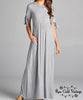 Maxi Tie T-shirt Dress - Gray