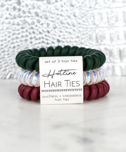 Hotline Hair Ties Set - Mistletoe