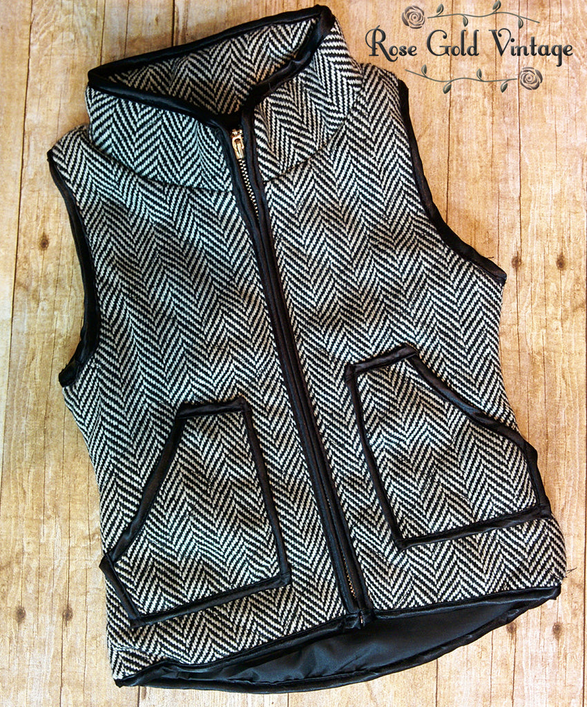 Woven Herringbone Vest for Girls