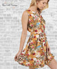 Belted Floral Dress - Honey