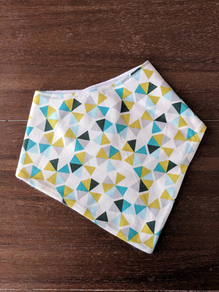 Blue Triangle Print Bibdana