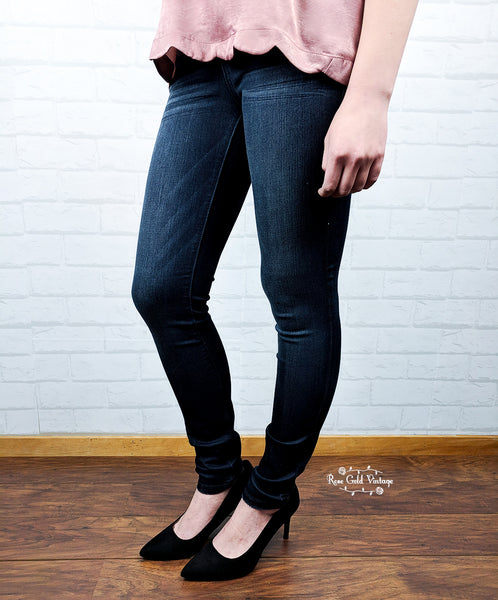 Rayon Blend Dark Skinny Jeans by Judy Blue