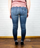 Denim Patch Skinny Jeans by Judy Blue