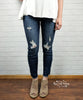 Side Slit Cropped Skinny Jeans by Judy Blue