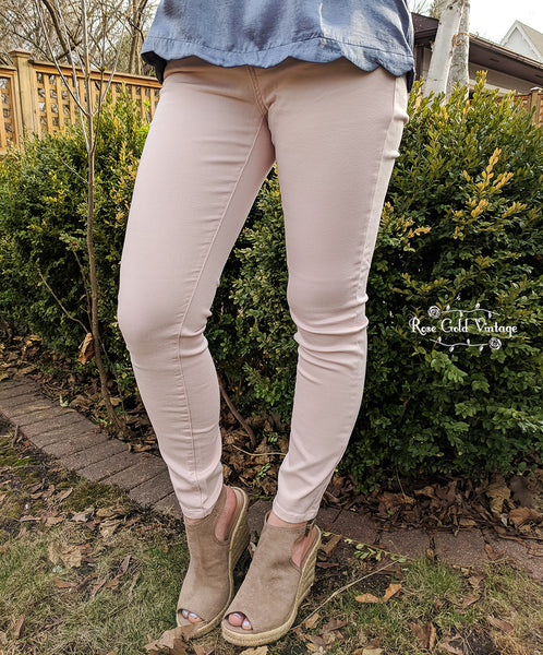 Judy Blue Stretch Skinny Jeans - Pale Pink