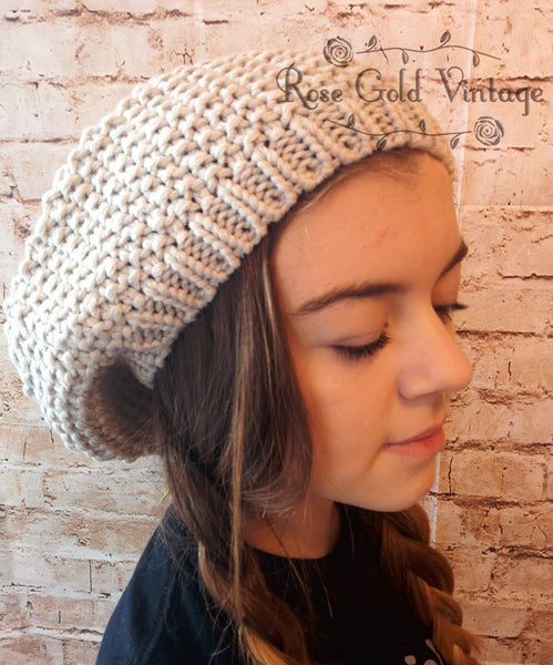 """Let it Snow"" Beret Beanie Hat - 4 colors"