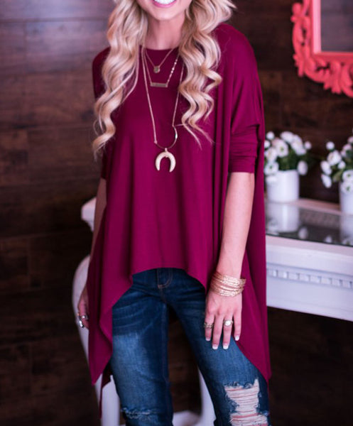 Chic Flow Tunic - Wine