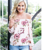 Off Shoulder Top - Blush Floral