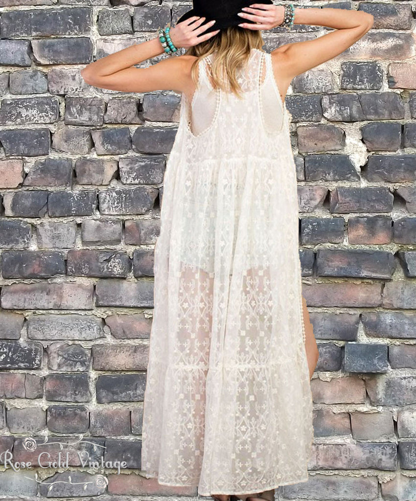 Lace Duster - Ivory
