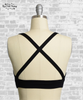 Cross Front & Back Bralette - Black