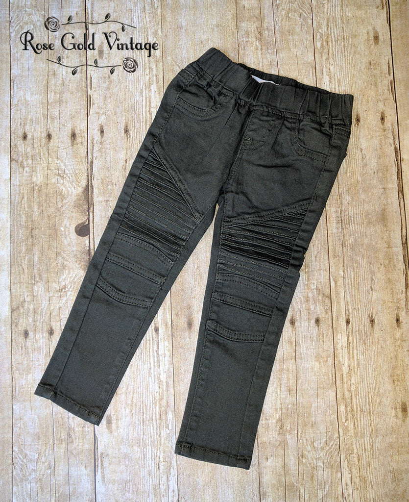 Moto Jeggings in Olive (Girls)