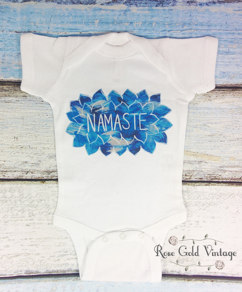 Namaste Yoga Short Sleeve Onesie (Infant)