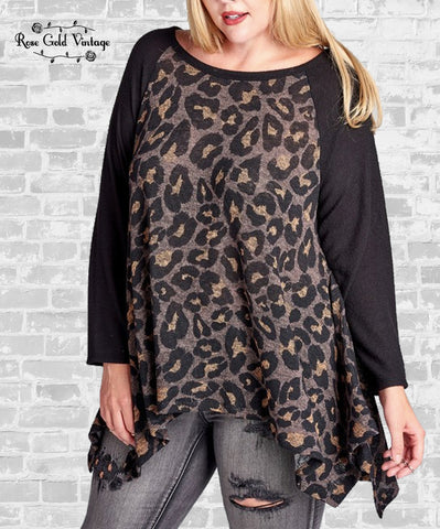 Sharkbite Tunic Top - Leopard
