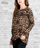 Twist Front Long Sleeve Tee - Leopard
