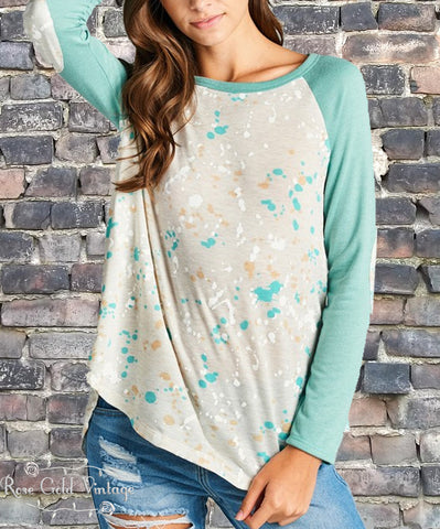 Paint Splatter Raglan