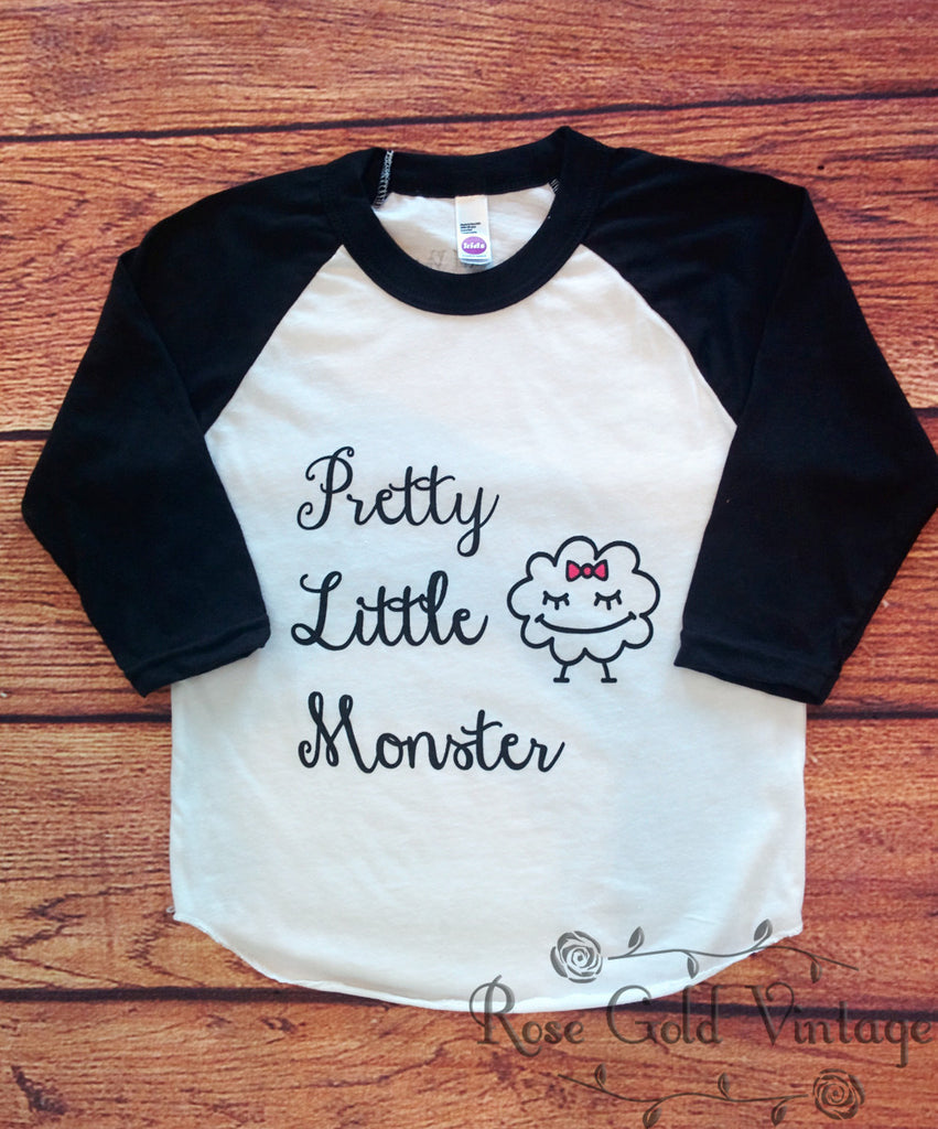 Pretty Little Monster Raglan Tee (Toddler)