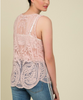 Scalloped Edge Lace Tank - Dusty Pink
