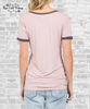 Pocket Ringer Tee - Washed Pink