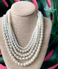 Multi-Layered Pearl Necklace