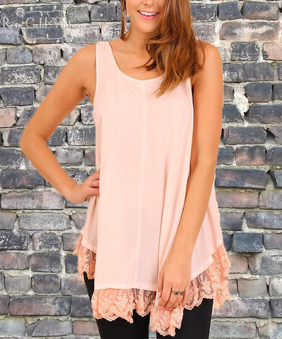 Washed Sleeveless Tunic - Rose