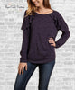 Ruffle Shoulder Top - Eggplant