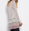 Raw Edge Ruffled Tunic (Ladies)