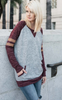 Varsity Pocket Fleece Top - Burgundy