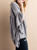 Slub Knit Batwing Top - Heather Gray