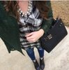 Plaid Fringed Tunic - Black & White