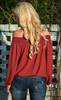 Nashville Smocked Top - Wine