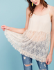 Romantic Ruffle Lace Cami - Natural