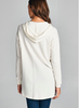 Distressed T-Shirt Hoodie - Ivory