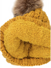 Sherpa Lined Fur Pom CC Beanies