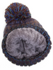 Fur Lined Cuffed CC Beanie with Pom
