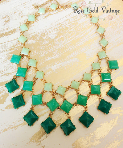 Shades of Green Statement Necklace