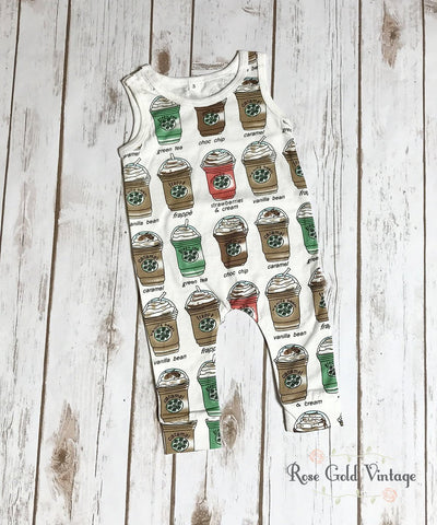 Sleeveless Coffee House Romper (Infant)