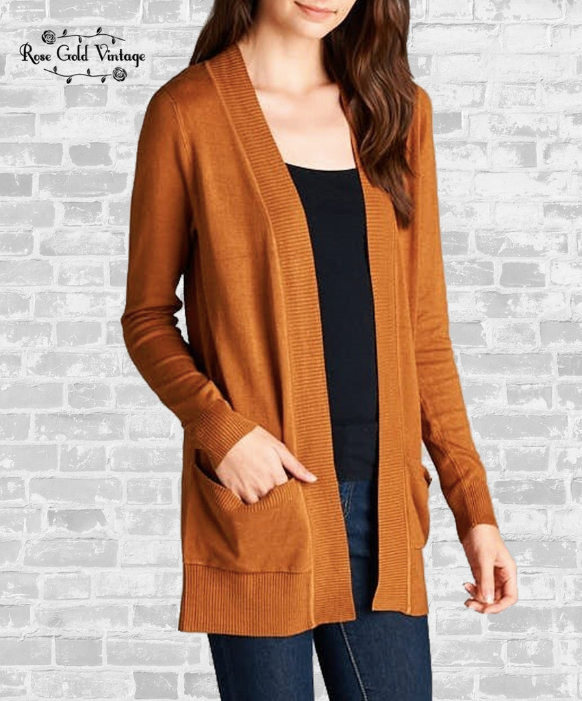 Basic Cardigan - Camel