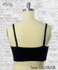 Strappy Front Seamless Bralette - Black