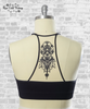 Tattoo Racerback Bralette - Black