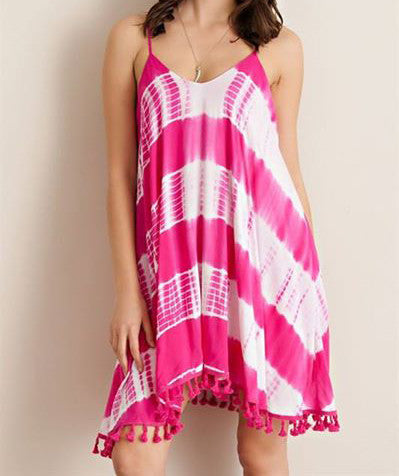 Tie Dye Pom Sundress (Ladies)