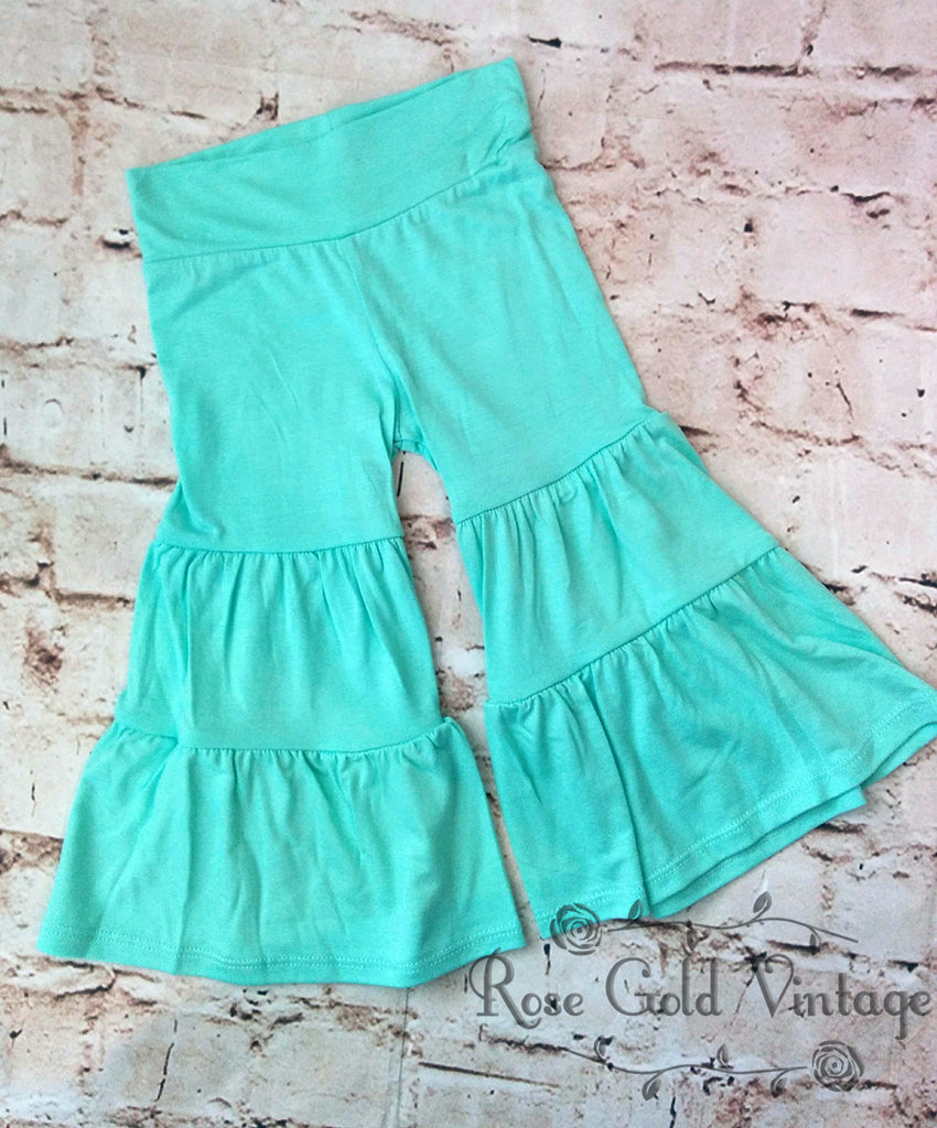 Tiered Palazzo Pants - Mint Green (Toddler)