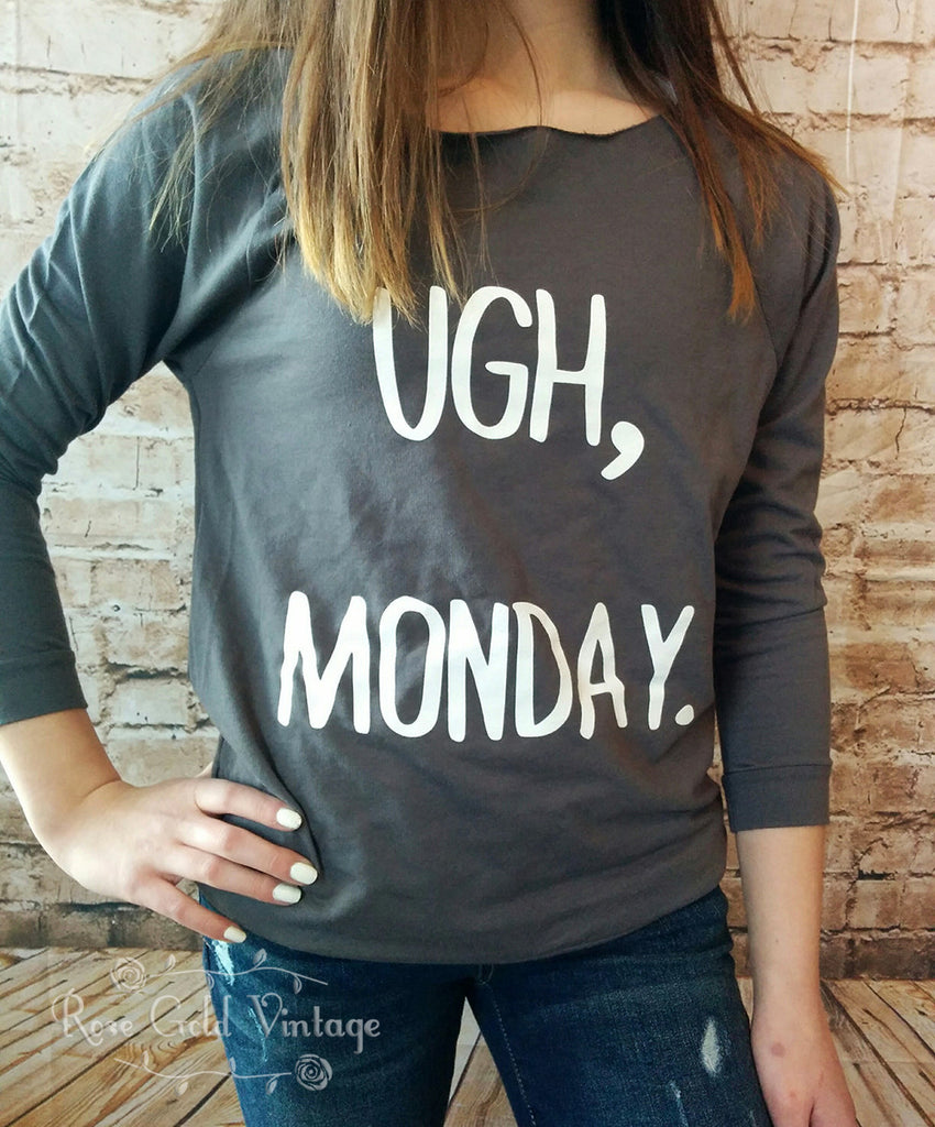 Ugh, Monday. 3/4 Sleeve Raglan (Ladies)