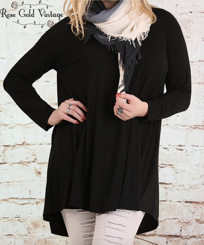 Cut Out Tunic - Black