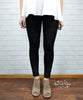 Denim Twill Moto Jeggings - Black