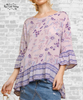 Boho Mix Print Top - Lavender
