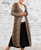 Long Cardigan Duster - Brown Cheetah