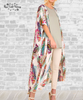 Feather Kimono Duster - White