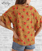 Floral Ruffle Sleeve Top - Honey